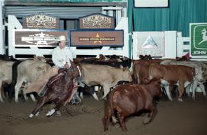 Primary view of object titled 'Cutting Horse Competition: Image 1997_D-133_24'.