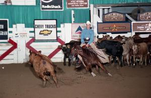 Primary view of object titled 'Cutting Horse Competition: Image 1997_D-137_06'.