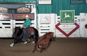 Primary view of object titled 'Cutting Horse Competition: Image 1997_D-137_16'.