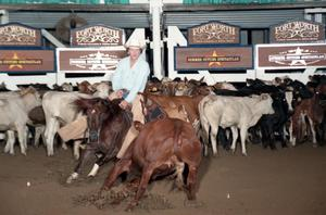 Primary view of object titled 'Cutting Horse Competition: Image 1997_D-137_21'.