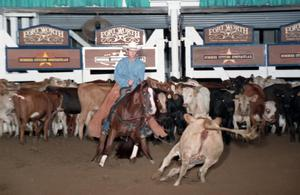 Primary view of object titled 'Cutting Horse Competition: Image 1997_D-137_34'.