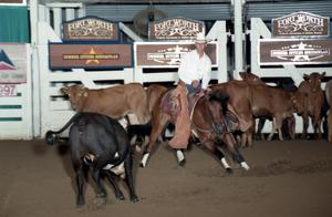 Primary view of object titled 'Cutting Horse Competition: Image 1997_D-138_07'.