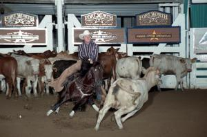 Primary view of object titled 'Cutting Horse Competition: Image 1997_D-138_25'.