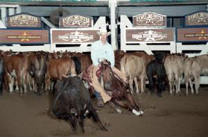 Primary view of object titled 'Cutting Horse Competition: Image 1997_D-138_31'.