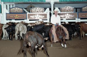 Primary view of object titled 'Cutting Horse Competition: Image 1997_D-139_08'.