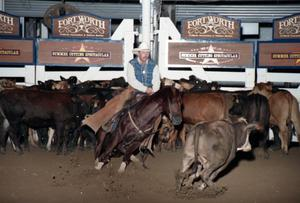 Primary view of object titled 'Cutting Horse Competition: Image 1997_D-13_06'.
