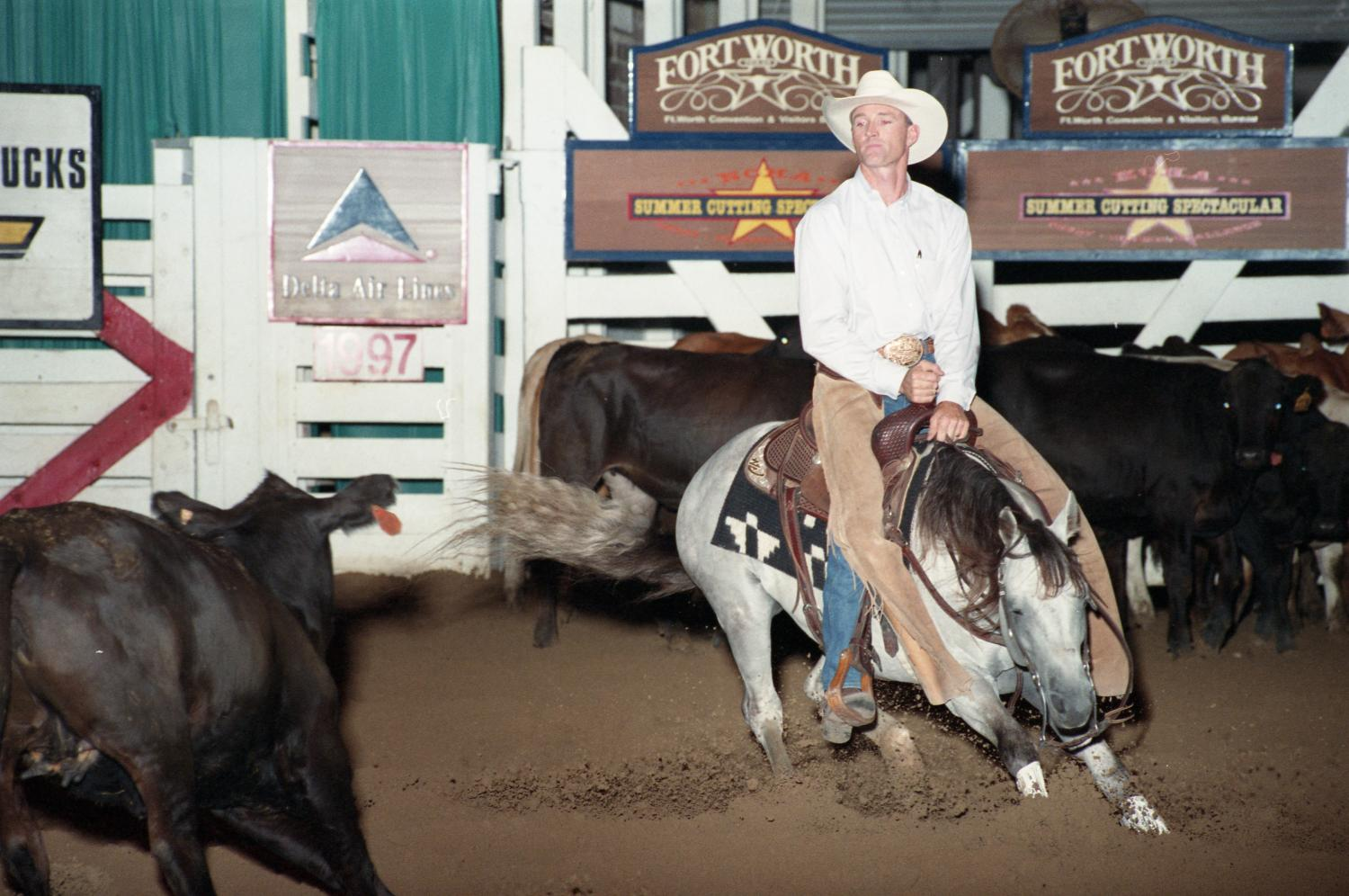Cutting Horse Competition: Image 1997_D-13_23                                                                                                      [Sequence #]: 1 of 1