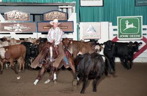 Primary view of object titled 'Cutting Horse Competition: Image 1997_D-140_10'.