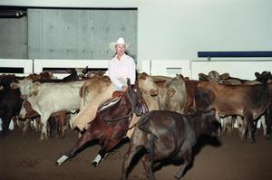 Primary view of object titled 'Cutting Horse Competition: Image 1997_D-14_06'.