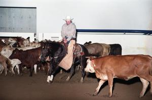 Primary view of object titled 'Cutting Horse Competition: Image 1997_D-14_20'.