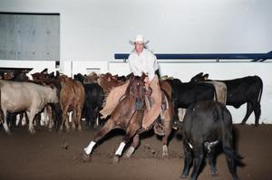 Primary view of object titled 'Cutting Horse Competition: Image 1997_D-15_02'.