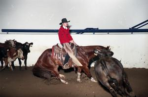 Primary view of object titled 'Cutting Horse Competition: Image 1997_D-15_13'.