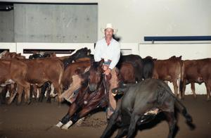 Primary view of object titled 'Cutting Horse Competition: Image 1997_D-15_25'.