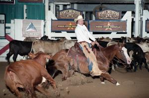 Primary view of object titled 'Cutting Horse Competition: Image 1997_D-16_06'.
