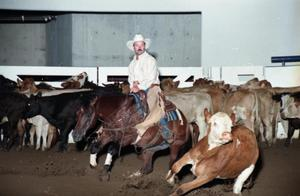 Primary view of object titled 'Cutting Horse Competition: Image 1997_D-17_09'.