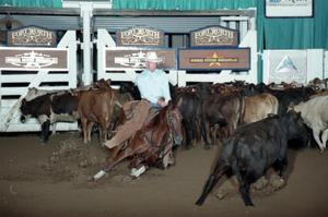 Primary view of object titled 'Cutting Horse Competition: Image 1997_D-17_19'.