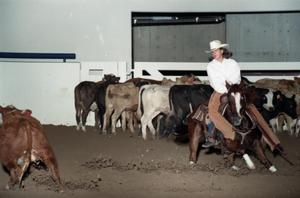 Primary view of object titled 'Cutting Horse Competition: Image 1997_D-2_21'.