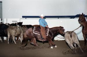 Primary view of object titled 'Cutting Horse Competition: Image 1997_D-3_08'.