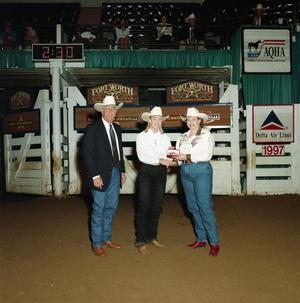 Primary view of object titled 'Cutting Horse Competition: Image 1997_D-469_12'.