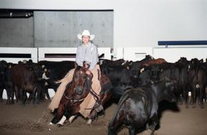 Primary view of object titled 'Cutting Horse Competition: Image 1997_D-4_07'.