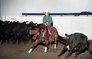 Primary view of object titled 'Cutting Horse Competition: Image 1997_D-602_06'.