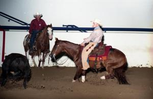 Primary view of object titled 'Cutting Horse Competition: Image 1997_D-603_16'.
