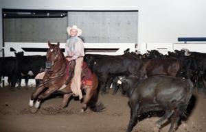 Primary view of object titled 'Cutting Horse Competition: Image 1997_D-603_18'.