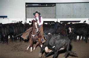 Primary view of object titled 'Cutting Horse Competition: Image 1997_D-604_09'.