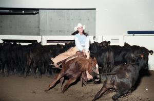 Primary view of object titled 'Cutting Horse Competition: Image 1997_D-6_11'.
