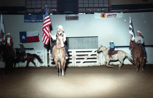 Primary view of object titled 'Cutting Horse Competition: Image 1997_D-6_28'.