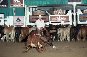 Primary view of object titled 'Cutting Horse Competition: Image 1997_D-99_17'.