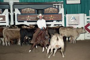 Primary view of object titled 'Cutting Horse Competition: Image 1997_D-99_27'.