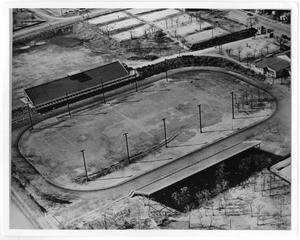 Primary view of object titled '[Aerial Photograph of North Texas State Teachers College, First Football Field, 1930s]'.