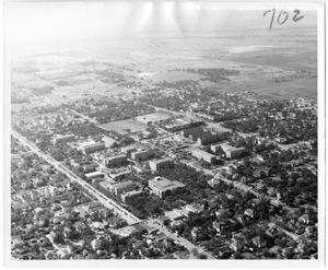 Primary view of object titled '[Aerial Photograph of the North Texas State Teachers College Campus]'.