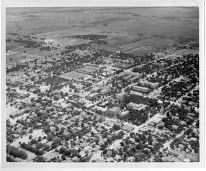 Primary view of object titled '[Aerial Photograph of the North Texas State Teachers College Campus, 1948]'.
