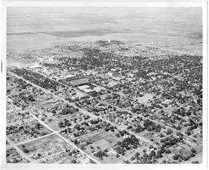 Primary view of object titled '[Aerial Photograph of the North Texas State College Campus, mid-1950s]'.