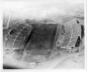 Primary view of object titled '[Aerial Photograph of North Texas State College, Fouts Field Stadium, 1951]'.