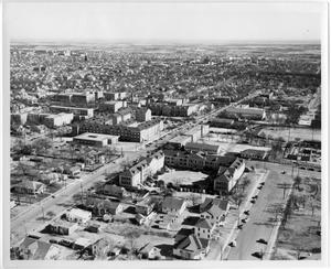 Primary view of object titled '[Aerial Photograph of North Texas State College Campus, 1951]'.