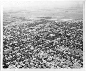 Primary view of object titled '[Aerial Photograph of the North Texas State College Campus, 1952]'.