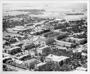 Primary view of object titled '[Aerial Photograph of the North Texas State College Campus]'.