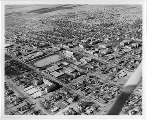 Primary view of object titled '[Aerial Photograph of the North Texas State College Campus, 1956]'.