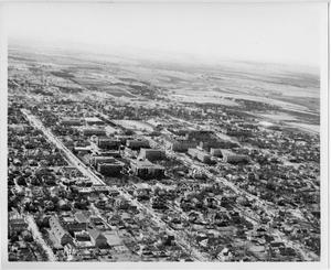Primary view of object titled '[Aerial Photograph of the North Texas State College Campus, early 1950s]'.