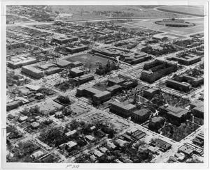 Primary view of object titled '[Aerial Photograph of the North Texas State University Campus, 1962]'.
