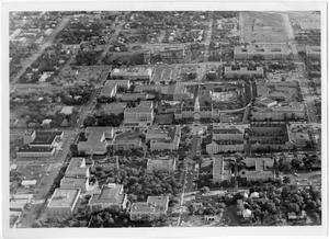 Primary view of object titled '[Aerial Photograph of the North Texas State University Campus, 1968]'.