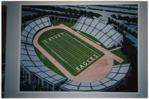 Primary view of object titled '[Rendering of Fouts Field Expansion]'.