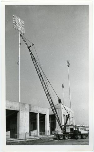 Primary view of object titled '[Fouts Field Under Construction]'.