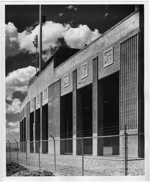 Primary view of object titled '[Exterior of Fouts Field During Construction]'.