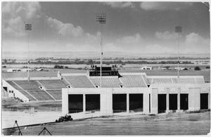 Primary view of object titled '[Fouts Field During Construction]'.