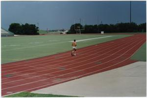 Primary view of object titled '[Runner at Fouts Field]'.