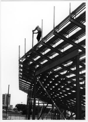 Primary view of object titled '[Construction at Fouts Field During Renovation in 1994]'.